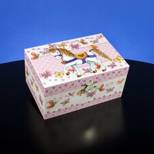 Pony and Butterflies Musical Jewelry Box