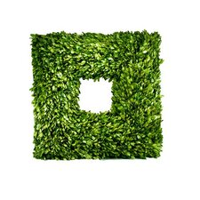 Boxwood Thick Sided Square Wreath