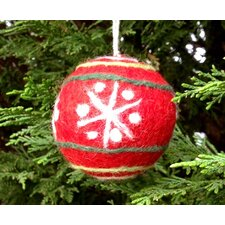 Felt Red Ball Snowflake Design