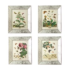 Reflections™ 4 Piece Butterfly Wall Art Prints in Mirror Frame Set