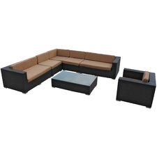 Palm Springs 7 Piece Sectional Deep Seating Group with Cushions