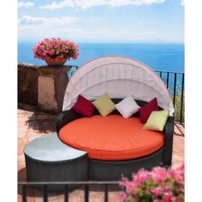 Perectiona Outdoor 2 Piece Daybed Set with Cushions