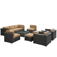 Avia 10 Piece Sectional Deep Seating Group with Cushions