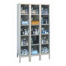 Safety-View Plus Stock Lockers - Five Tiers - 3 Sections (Assembled)