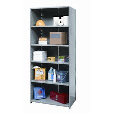 Hi-Tech Shelving Heavy-Duty Closed Type Starter Unit with 6 Shelves