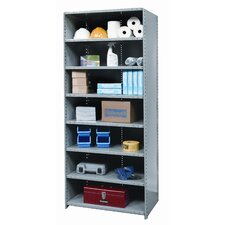 Hi-Tech Shelving Medium-Duty Closed Type Starter Unit with 8 Shelves