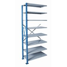 "H-Post Shelving 87"" High Capacity Open Type Add-on Unit with 8 Shelves"