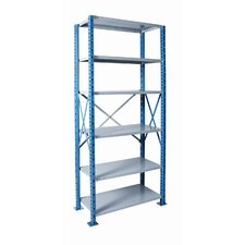 H-Post Shelving High Capacity Open Type Starter and Optional Add-on Unit with 6 Shelves