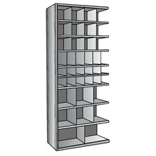 "Hi-Tech Metal Bin Shelving Add-on Unit (12) 9"" W x 9"" H, (6) 6"" W x 9"" H, (12) 6"" W x 6"" H, (6) 12"" W x 12"" H, (2) 18"" W x 12"" H Bins"