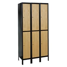 Metal-Wood Hybrid Locker Double Tier 3 Wide (Assembled)
