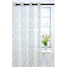 Costello Grommet Sheer Curtain Panel Pair with Embroideries