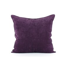Royal purple velvet euro sham