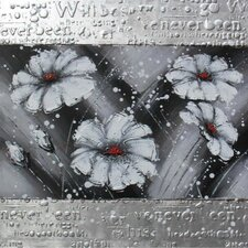 White Flowers Framed Art