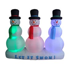 Christmas Inflatable Snowmen Lightshow
