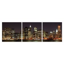 Skyline at Night Modern Wall Art Decoration