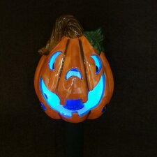 Pumpkin Ceramic Solar Powered Changing LED Light