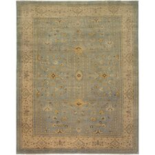 Sivas Design Light Blue, Hand-Knotted Rug