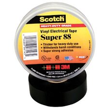 "Scotch® Super Vinyl Electrical Tapes 88 - 88 3/4""x36 yds vinyl electric tape"