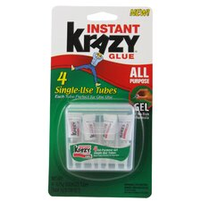 4 Count 0.75 Grams Instant Krazy Glue® All Purpose Single Use Tubes