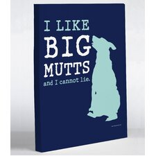 I Like Big Mutts Canvas Wall Decor