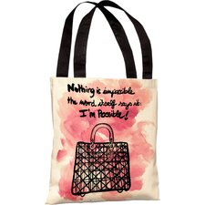 Oliver Gal Nothing Is Impossible Polyester Tote Bag