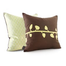 Nourish Sprout Suede Throw Pillow