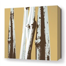 Bamboo Stretched Wall Art in Aqua