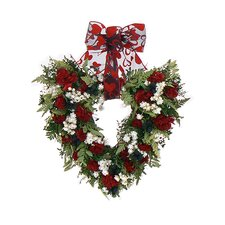 Berry Love Heart Wreath