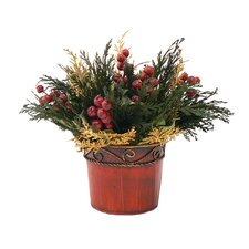 Happy Holidays Table Top Basket Wreath