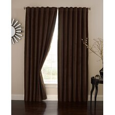 Absolute Zero Velvet Rod Pocket  Home Theater Curtain Single Panel