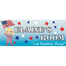 Patriotic Girl Name Sign