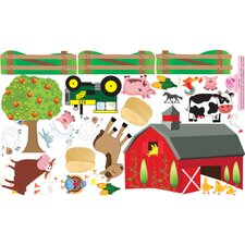 Peel and Play Farm Wall Play Set