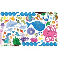 Peel and Play Ocean Girl Wall Play Set