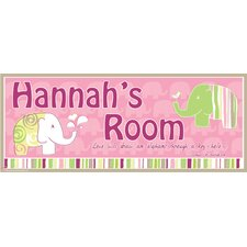 Elephant Girl Name Sign