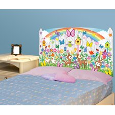 Peel and Stick Flower Garden Panel Headboard