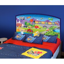 Peel and Stick Cars Panel Headboard