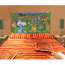 Peel and Stick Jungle Panel Headboard