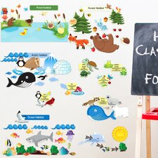 Peel and Learn Eco System Wall Stickers