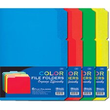 6 Ct. 0.33 Cut Letter Size Color File Folder (Set of 48)
