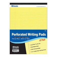 Perforated Writing Pad (Set of 12)