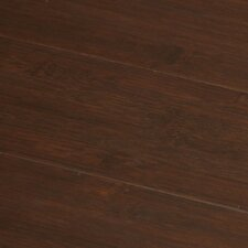 "Hand-scraped 5-1/4"" Solid Stained Carbonized Horizontal Bamboo Flooring in Auburn"