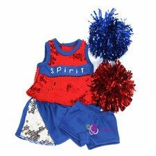 "Got Spirit Cheerleader Outfit for 18"" American Girl Doll"