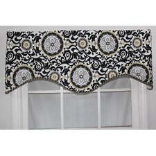 Celestial Shaped Cotton Rod Pocket Scalloped Curtain Valance