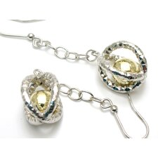 Modern Silver Desgins Sterling Silver Ball Dangle Earrings