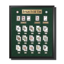 Large Framed Texas Hold'em Picture