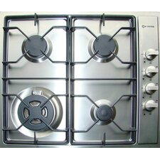 "24"" Gas 4 Burner Cooktop"