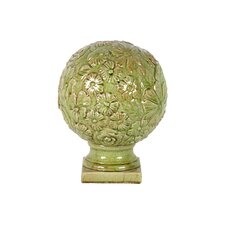 Ceramic Flower Globe on the Stand