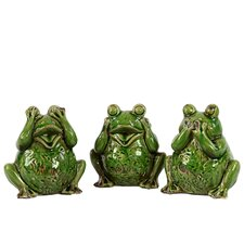 Ceramic Frog (Set of 3)