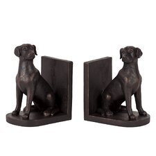 Resin Dog Bookend