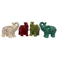 Ceramic Elephant (Set of 4)